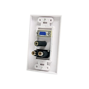StarTech Wall Plate With 3.5 mm/RCA, White