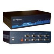Brainboxes 8-Port 9-Pin DB-9 Male RS-232 USB To Serial Adapter