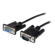 StarTech® 2m Black Straight Through DB9 RS232 Serial Cable - M/F