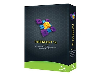 Nuance® PaperPort v.14.0 Software, 1-User, Windows, DVD-ROM