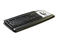 3M™ All-In-One Adjustable Keyboard Tray Platform, Black