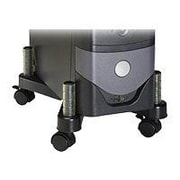 3M™ Black 4 Casters Up To 50 lb Adjustable Floor Mount CPU Stand