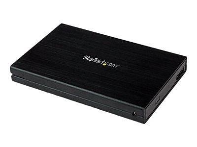 StarTech 2.5IN Serial ATA/150/300/600 USB 3.0 Drive Enclosure, Black