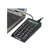 Kensington® USB Wired Notebook Keypad, Black