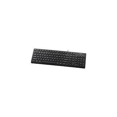 Buslink® KR-6401 USB Wired Chocolate Key Style Slim Keyboard, Black