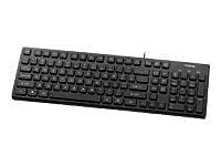 Buslink® KR-6401 USB Wired Chocolate Key Style Slim Keyboard, Black