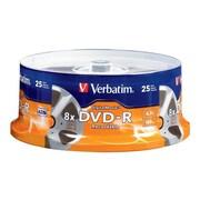 Verbatim® 94866 Digital Movie® 4.7GB 8x DVD Recordable Media, 25 Pack