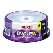 Maxell 634046 4x DVD+RW, 15/Pack