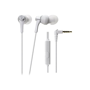 Audio Technica® SonicPro® In-Ear Headphone With In-line Mic & Control, White