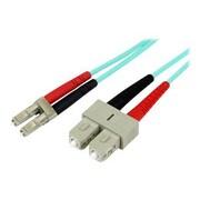 StarTech 3.28' LC To SCMultimode 50/125 Duplex LSZH Fiber Patch Cable, Aqua