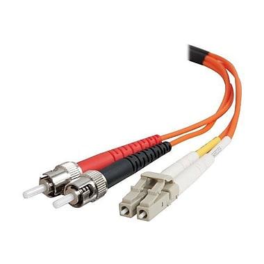 C2G® 33166 16.4' OM1 Multi-Mode Fiber Duplex LC to ST Male/Male Patch Cable, Orange