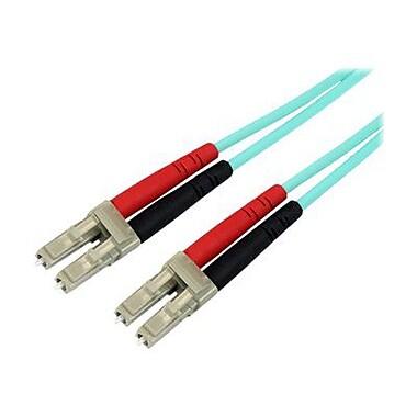 StarTech 6.56' LC To LC Multimode 50/125 Duplex LSZH Fiber Patch Cable, Aqua