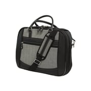"Mobile Edge ScanFast Black/White Faux-Leather Small Briefcase For 14.1"" - 15"" Ultrabook/Tablet"