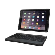 Zagg ZAGG Rugged Book Keyboard And Folio Case - Wireless - ID5RGK-BB0 - Black - For Apple iPad Air