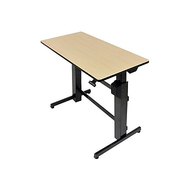Ergotron® WorkFit-D Steel/Metal/Wood Sit-Stand Computer Desk, Black/Birch