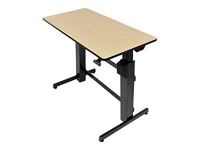Ergotron® WorkFit-D Steel/Metal/Wood Sit-Stand Computer Desk, Black/Birch