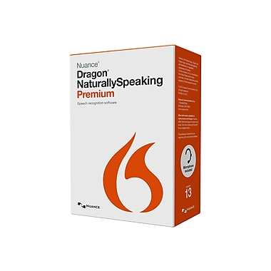 NuanceMD – Dragon Naturallyspeaking V.13.0 Premium, 1 utilisateur, Windows, DVD-ROM, munic./État