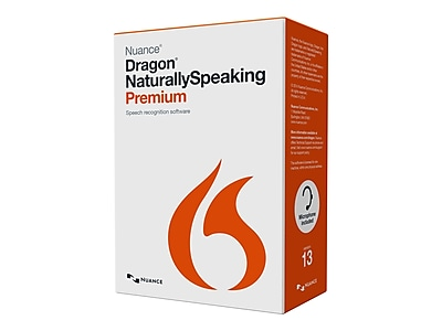 Nuance® Dragon NaturallySpeaking v.13.0 Premium Software, 5 User, Windows, DVD-ROM