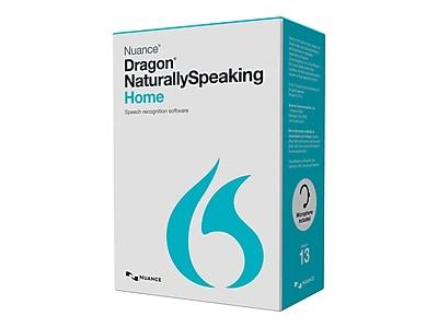Nuance® Dragon NaturallySpeaking v.13.0 Home Software, 1 User, Windows, DVD-ROM