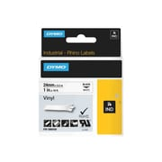 "DYMO® Rhino Permanent Vinyl Industrial Label Tape, 1"" X 18 Ft, White/black Print"