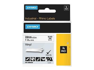 DYMO® Rhino Permanent Vinyl Industrial Label Tape, 1