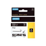 "Dymo® Rhino™ 1805435 1/2"" Color Coded Vinyl Label, White On Black"
