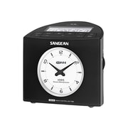 Sangean RCR-9 FM-RDS (RBDS)/AM Digital Tuning Atomic Clock Radio, Black