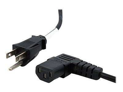 StarTech 10' Right Angle NEMA 5-15P To IEC 60320 C13 Standard Computer Power Cord, Black