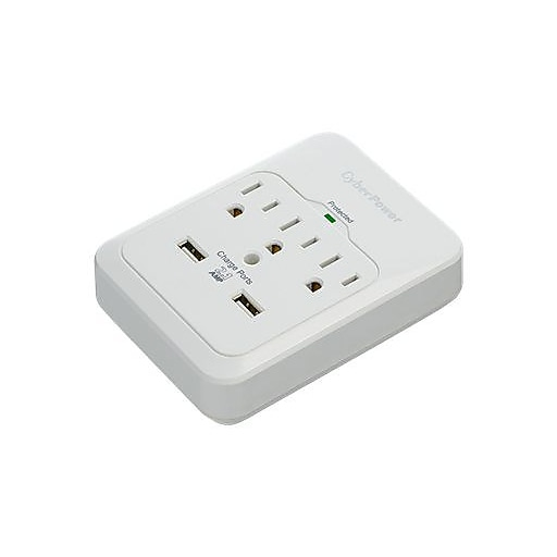 CyberPower  Professional CSP300WUR1 3 Outlets 600 J Surge Protector