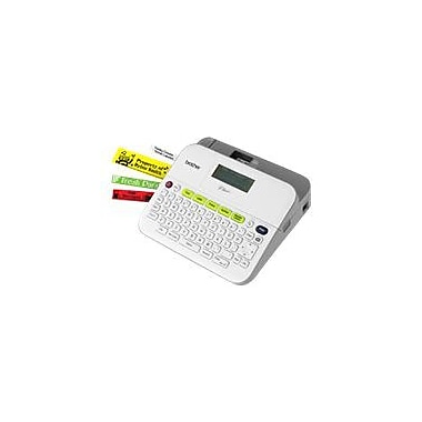 Brother® PT-D400AD 0.79 in/s Easy-to-Use Label Maker With AC Adapter, 180 dpi