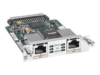 Cisco HWIC-2FE High WAN Interface Card For Integrated Services Routers, 2 Port