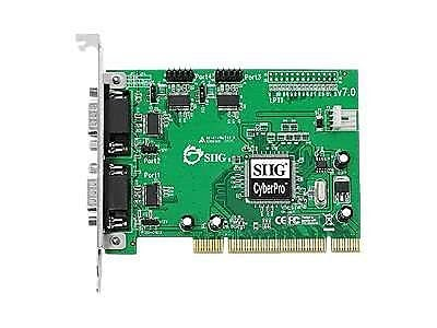 SIIG® CyberSerial 4-Port High-Speed 16950 UART Serial PCI Card