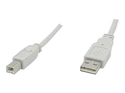C2G® 16.4' USB 2.0 A To B Cable, White