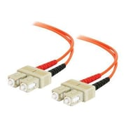 C2G® 6.56' SC Male To SC Male 62.5/125 OM1 Multimode Duplex Fiber Optic Cable, Orange
