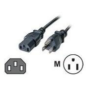 C2G® 15' NEMA 5-15P to IEC320C13 Universal Power Cord, Black