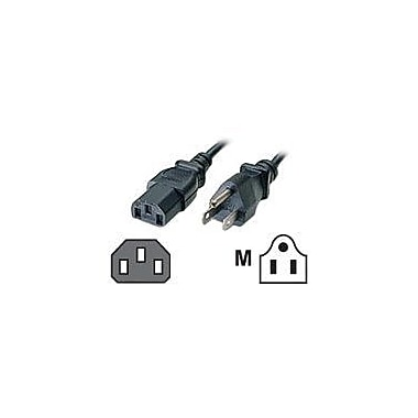 C2G® 10' NEMA 5-15P to IEC320C13 Universal Power Cord, Black