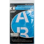 """C-THRU Helvetica Stencil, 4"""", Caps, 4/Pack"""