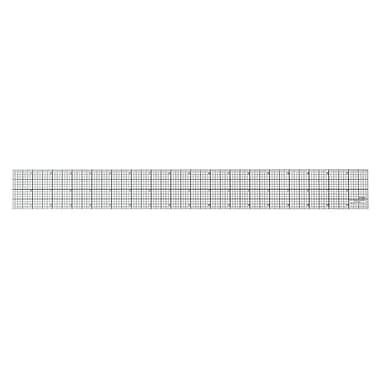 "C-THRU 8ths Bevelled Ruler, Black 18"", 12/Pack"