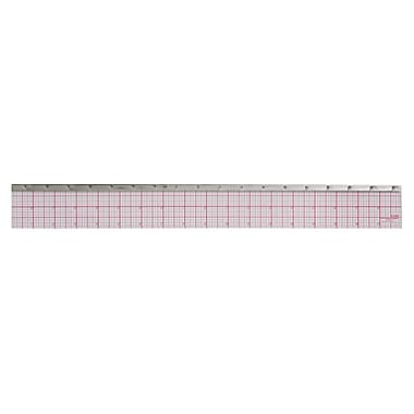"C-THRU 8ths Bevelled Ruler, 18"", with Stainless Steel Edge, 12/Pack"