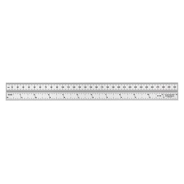C-THRU Metric/Inch Laminated Ruler, 30cm/12in, 12/Pack