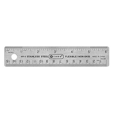 C-THRU – Règle en acier avec revêtement en liège au verso de 15cm/6 po, 10/pqt