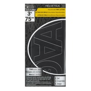 "C-THRU 3"" Helvetica Repositionable Vinyl Letters, Black, 4/Pack"