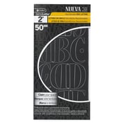 "C-THRU 2"" Nueva Repositionable Vinyl Letters, Black, 4/Pack"