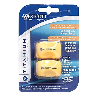 Westcott Straight Replacement Blades for 13779 Trimmer, Cut Blades Only, 2/Pack