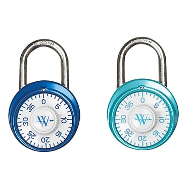 Westcott Combination Lock with Antimicrobial Protection, 2 Colours, 48mm/1-7/8