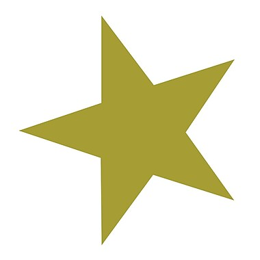 Westcott Gold Stars, 3500/Pack