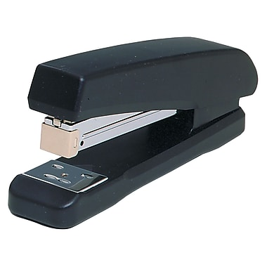 Westcott Full Strip Plastic Base Staplers, Black