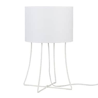 Lights Up! Virgil 21'' Table Lamp; Natural Linen