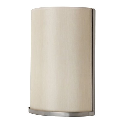 Lights Up! Meridian 1-Light Large Wall Sconce; Croissant Silk Glow