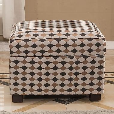 Bellasario Collection Plaid Storage Ottoman
